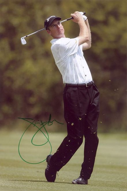 Jim Furyk, American golfer, signed 12x8 inch photo.